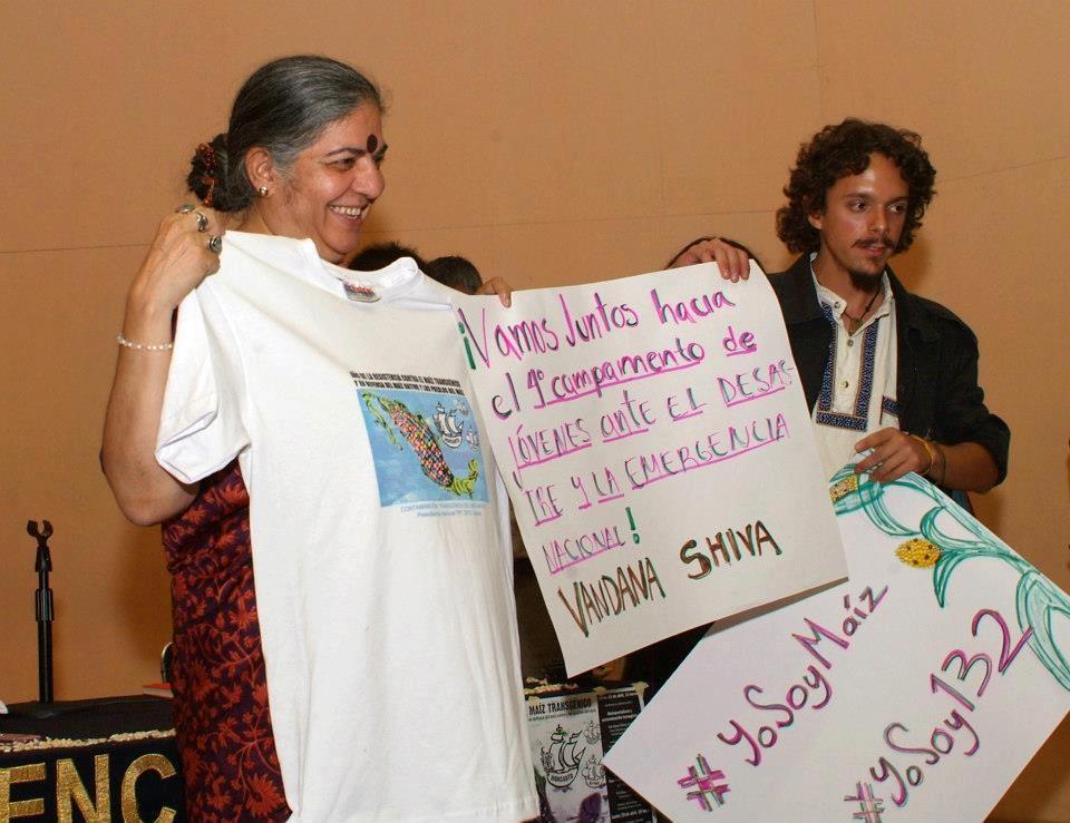 Vandana Shiva Invita al 4to campamento de Jóvenes ante la Emergencia
