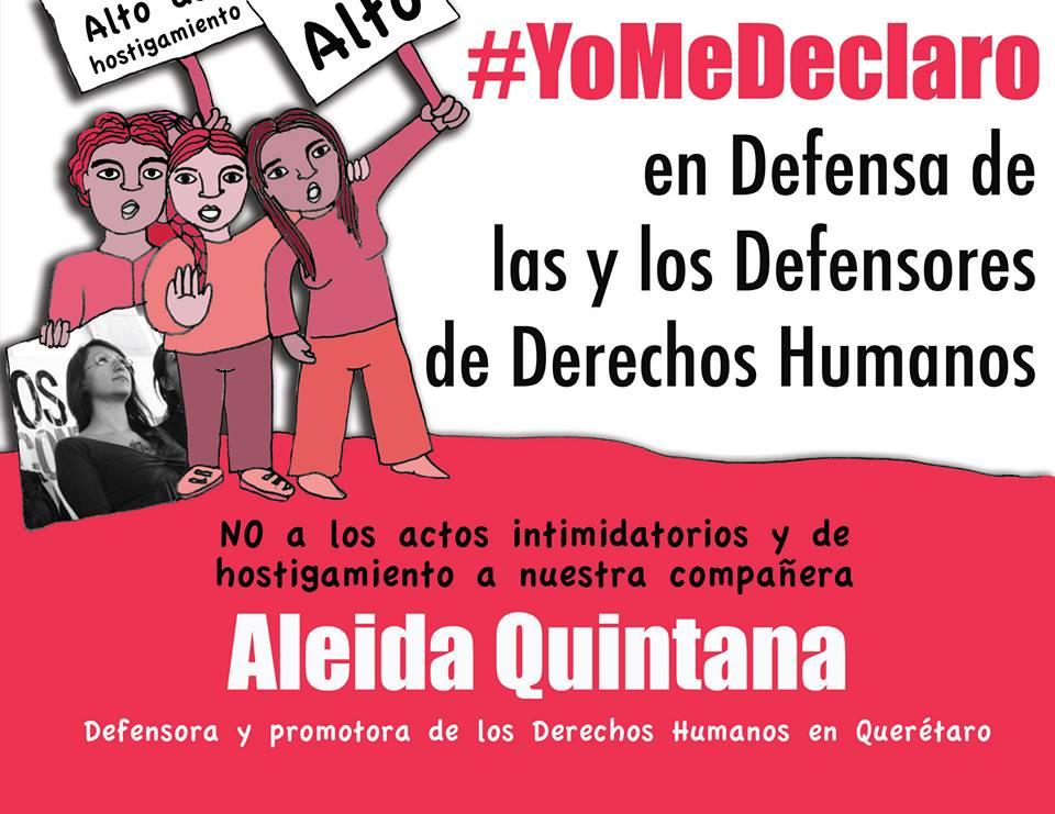 Carta pública: Exigimos garantías de seguridad integral y de no repetición del daño para nuestra compañera Aleida Quintana